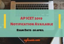 AP ICET 2019 Notification Released