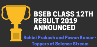 BSEB Class 12th Result 2019 Announced