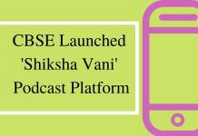 CBSE Launched 'Shiksha Vani' Podcast Platform
