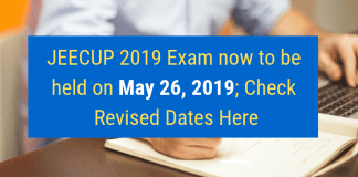 JEECUP 2019 Exam Rescheduled
