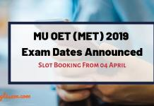 MU OET (MET) 2019 Exam Dates Announced
