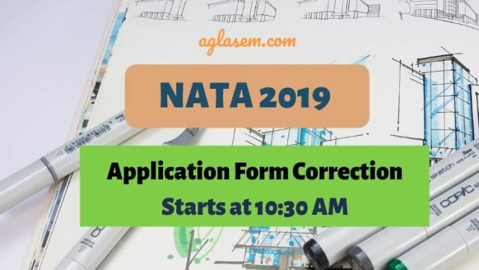 NATA 2019 Application Form Correction Starts at 10:30 AM