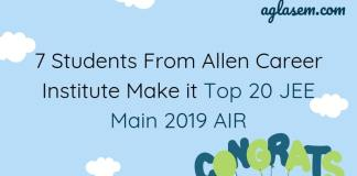 7 Students of Allen Career Institute in Top 20 AIR