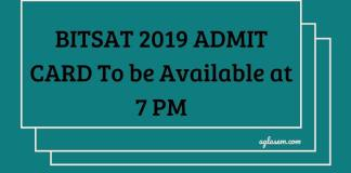 BITSAT 2019 ADMIT CARD DELAYED