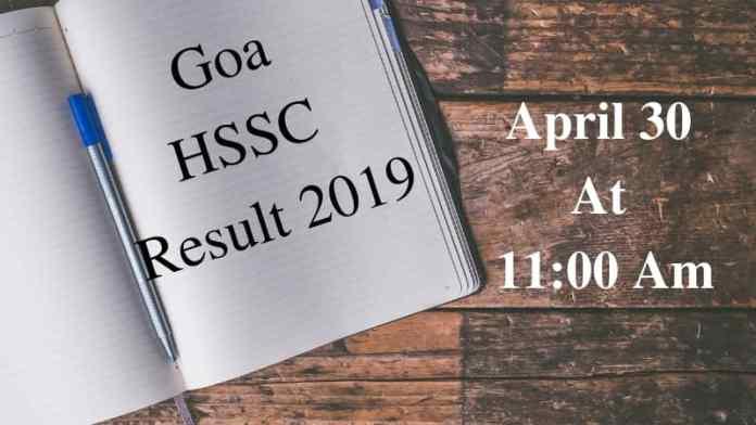 Goa HSSC Result 2019