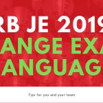 RRB JE 2019 - CHANGE EXAM LANGUAGE