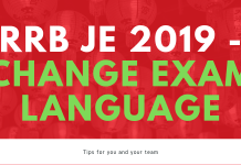 RRB JE 2019 - CHANGE EXAM LANGUAGE