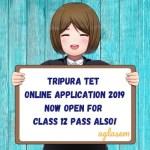 Tripura TET Online Application 2019