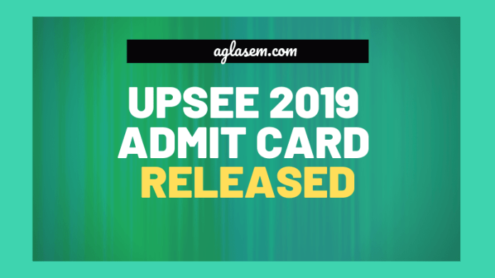 UPSEE 2019 Admit Card