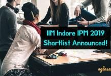 IIM Indore IPM 2019 Shortlist