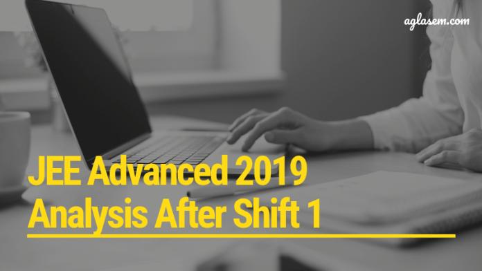 JEE Advanced 2019 Analysis
