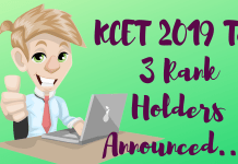 KCET-2019-Top-3-Rank-Holders-Announced- Aglasem