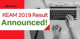 KEAM 2019 Result