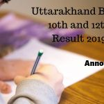 Uttarakhand Board 10th and 12th Result 2019