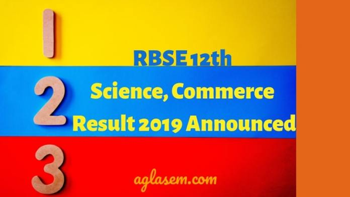 RBSE 12th Science, Commerce Result 2019