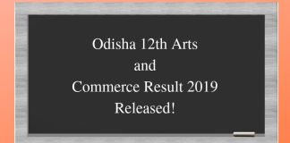 Odisha 12th Arts and Commerce Result 2019 Released