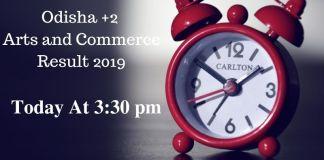 Odisha +2 Arts and Commerce Result 2019