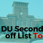 DU 2nd Cutoff List 2019