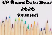 UP Board Date Sheet 2020