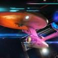 「星際爭霸戰實境體驗展」最令人興奮的果然還是這台企業號吧!(請讀者不要擔心,現場沒這麼多閃光…)