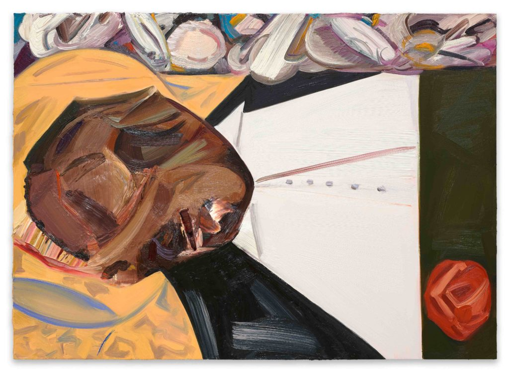 Dana Schutz and Open Casket (2016). Oil on canvas. 99 x 135 cm. Collection of the artist. Courtesy Petzel, New York.