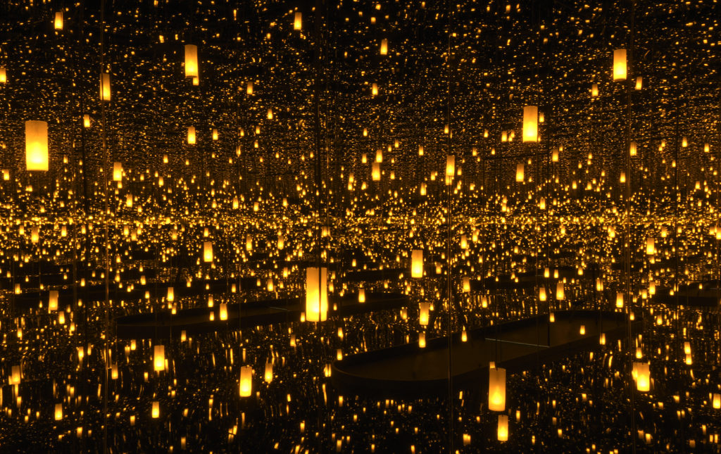 Yayoi Kusama, Aftermath of Obliteration of Eternity (2009) at the Hirshhorn Museum and Sculpture Garden. Courtesy of Ota Fine Arts, Tokyo/Singapore; Victoria Miro, London; David Zwirner, New York. © Yayoi Kusama. Photo by Cathy Carver.