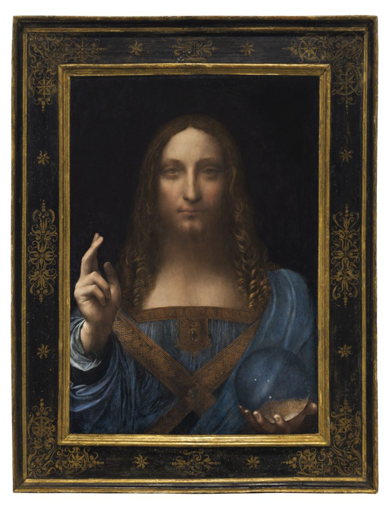 Leonardo da Vinci's Salvator Mundi. Courtesy of Christie's Images Ltd. 2017.