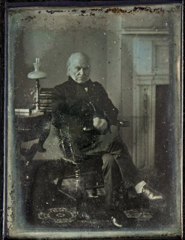 John Quincy Adams photograph, 1843, by Philip Haas. Courtesy of the National Portrait Gallery.