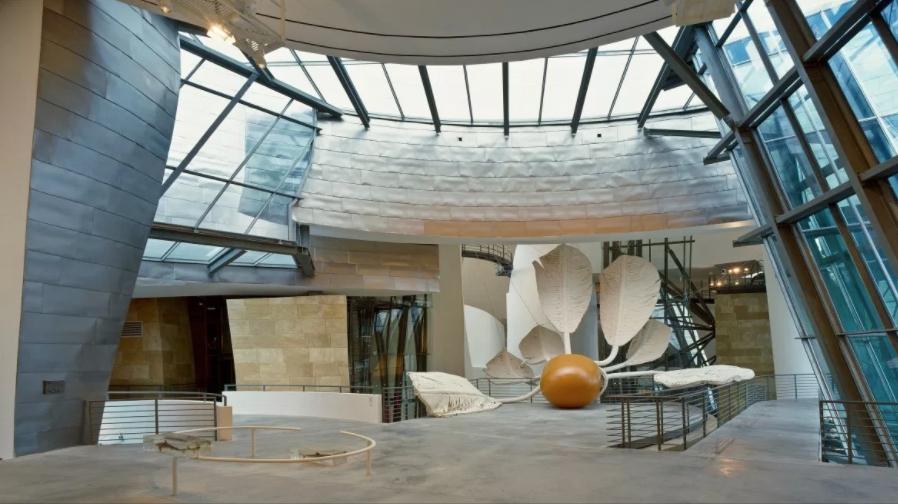 Interior of the Guggenheim Bilbao, photo: David Heald. Image courtesy of the Guggenheim.