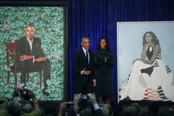 Michelle Obama Portrait Painting