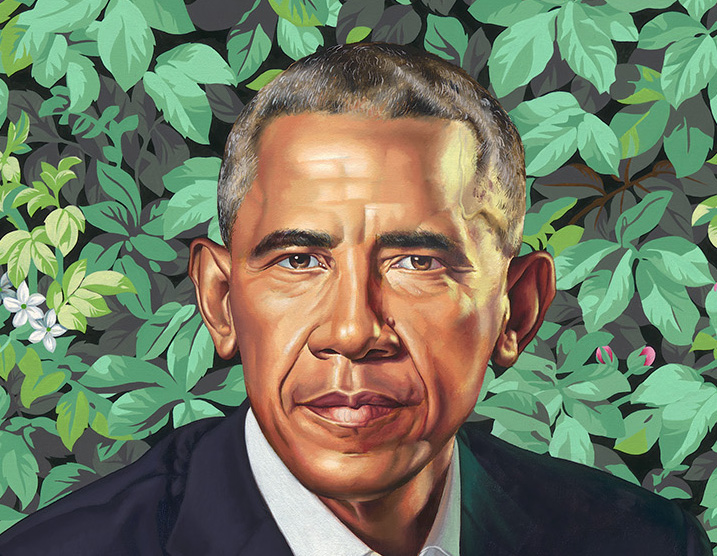the obama portraits have