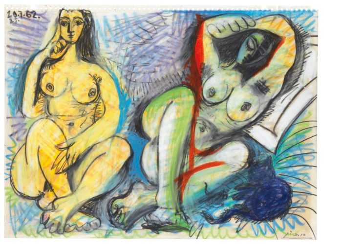 Pablo Picasso's Deux nus (1962). Courtesy of Christie's.