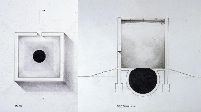 Anish Kapoor, Descent Into Limbo (1992), diagramas. Courtesia de Anish Kapoor