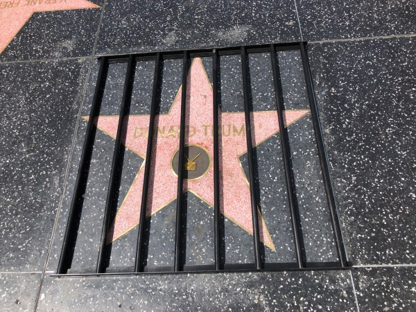 Trump Hollywood Star Walk of Fame Behind Bars