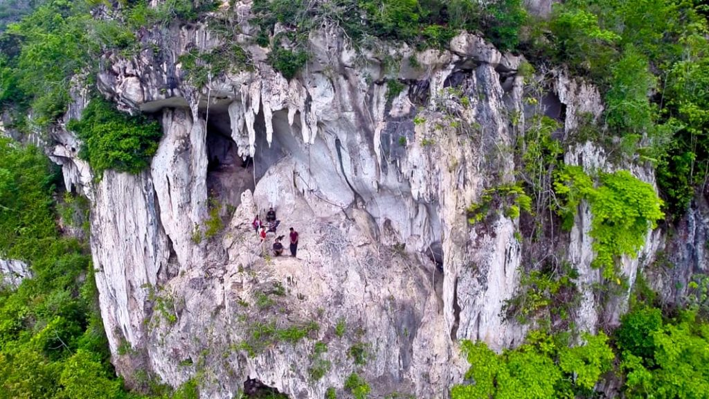 The world's oldest figurative art was found in this Borneo cave. Photo by Pindi Setiawan.