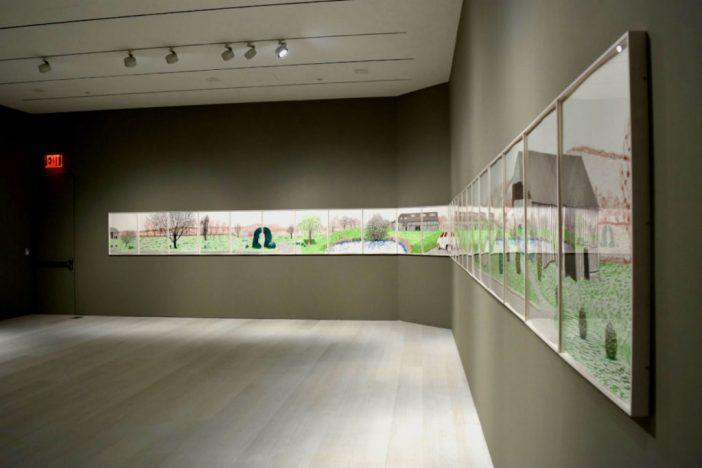 """""""David Hockney: La Grande Cour, Normandy"""" na nova Pace Gallery"""