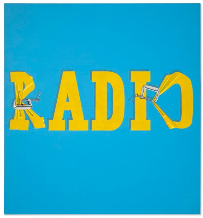 Ed Ruscha, Hurting the Word Radio #2 (1964). Courtesy of Christie's Images Ltd.