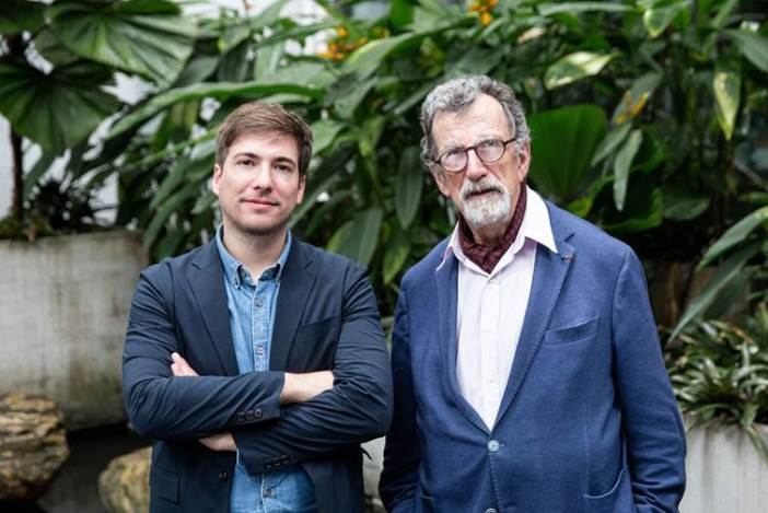 Martin Guinard (left) and Bruno Latour, co-curators of the 2020 Taipei Biennial. Image courtesy Taipei Biennial.