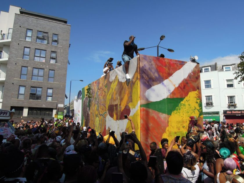 Alvaro Barrington's Float for the Notting Hill Carnival. Photo by Florain Reither.