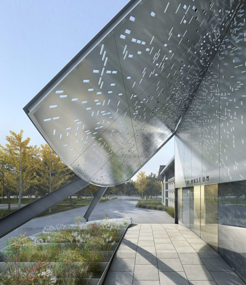 A rendering of the X Museum in Beinjing. Courtesy of the X Museum.