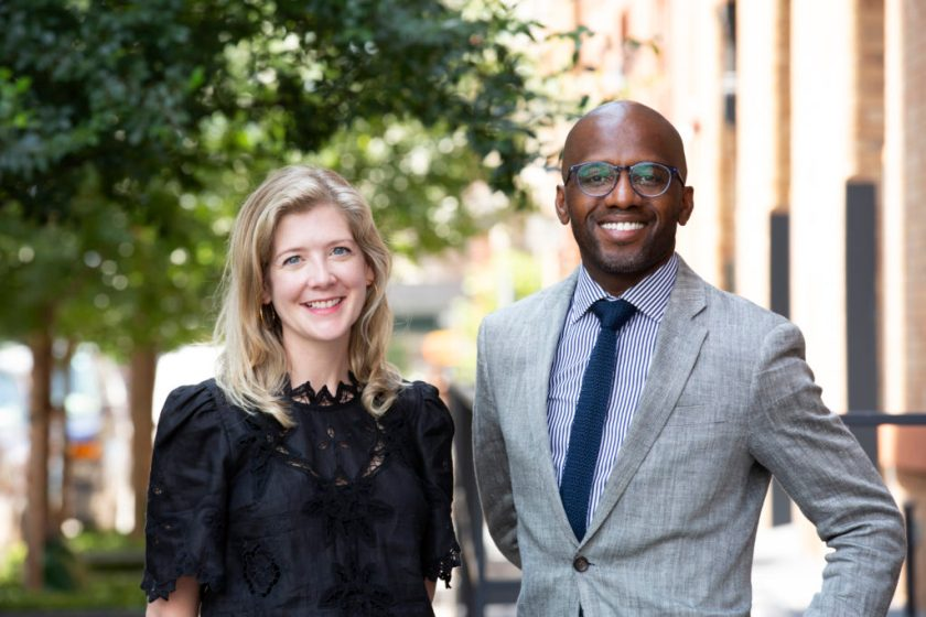 Dexter Wimberly and Heather Bhandari, founders of the Art World Conference. Photo by Alexa Hoyer, courtesy of the Art World Conference.