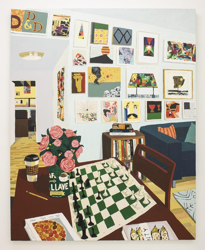 Hilary Pecis, <em>Harper's Game</em> (2019). Courtesy of Halsey McKay Gallery, East Hampton, New York.