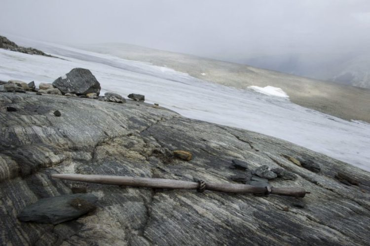 A distaff found in the Lendbreen pass. Photo by Espen Finstad, courtesy of Secrets of the Ice.