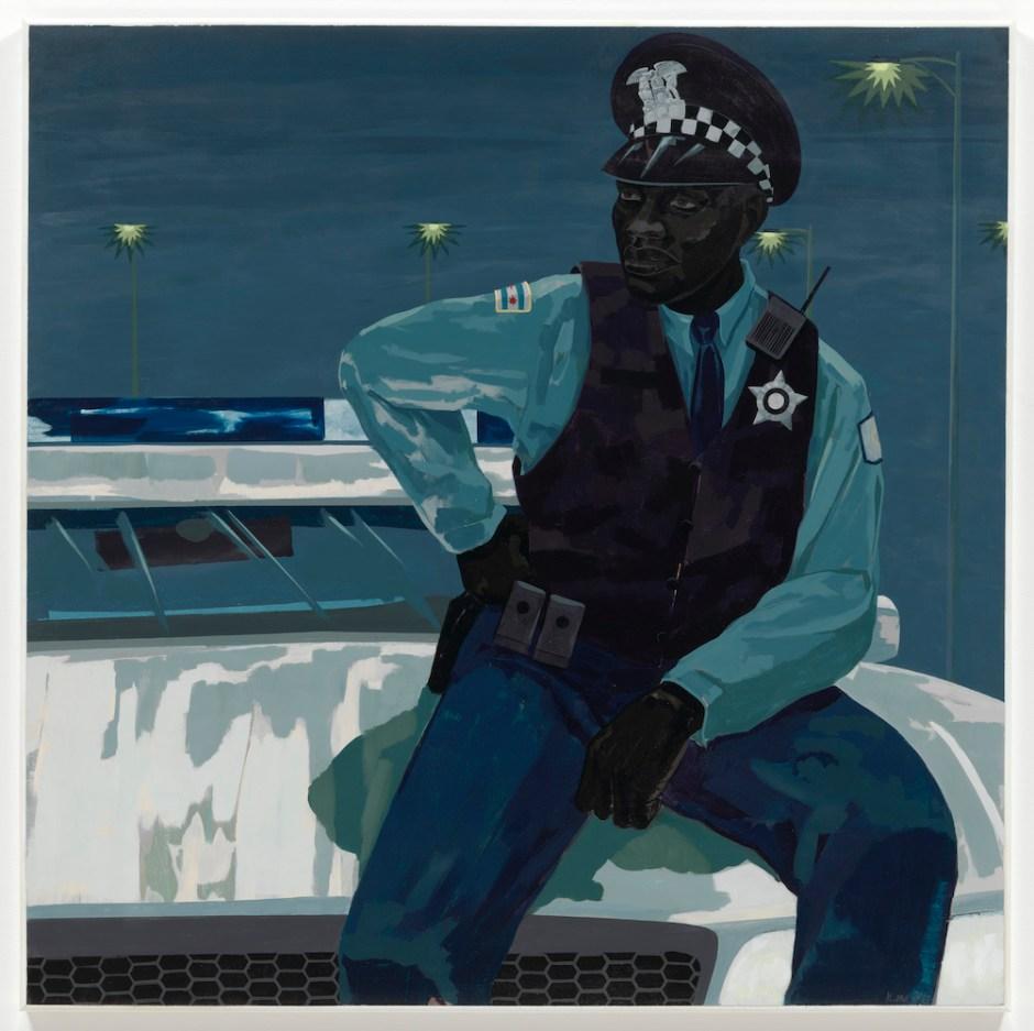 Kerry James Marshall, <i>Untitled (policeman)</i> (2015). © Kerry James Marshall. Courtesy the artist and Jack Shainman Gallery, New York.