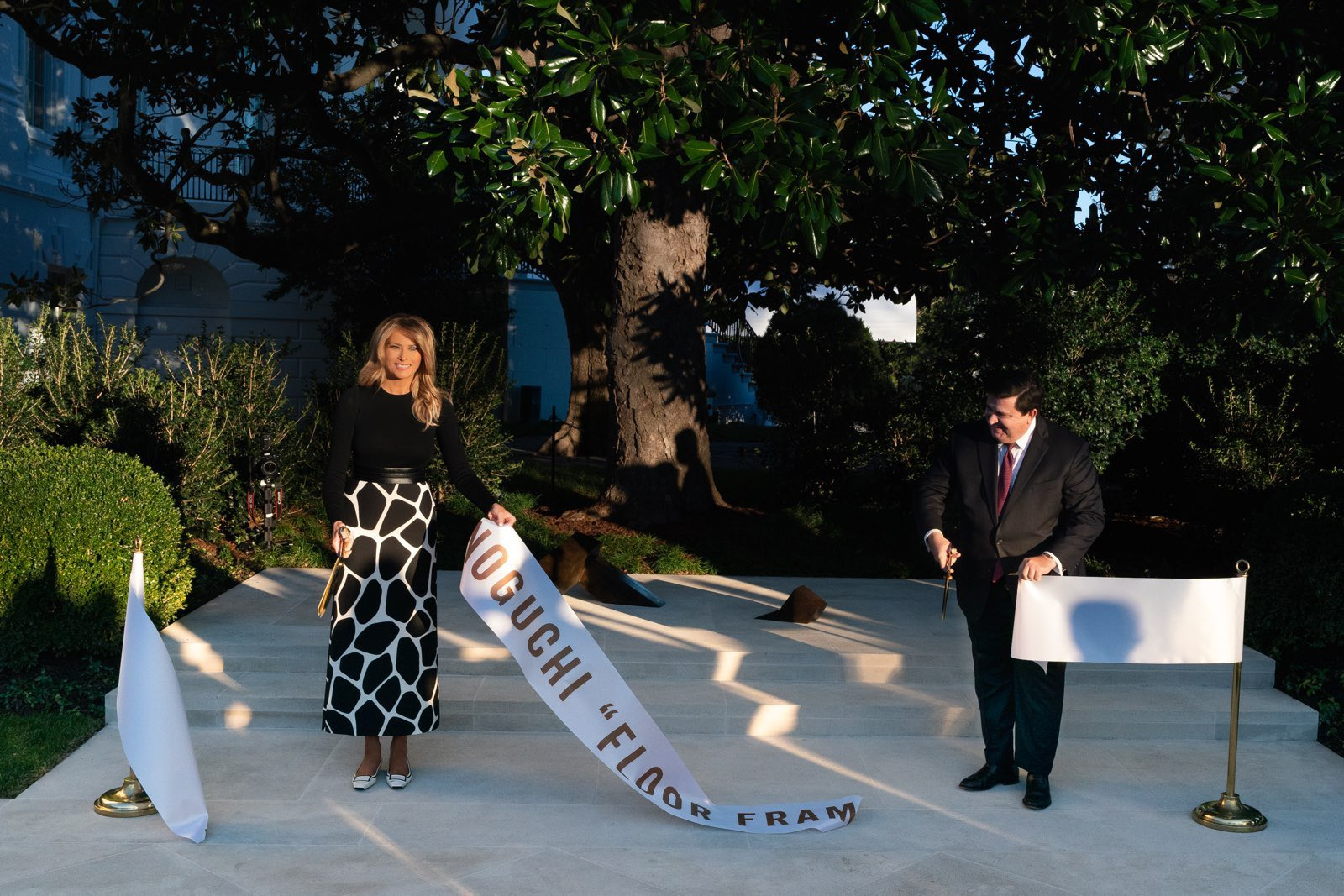 Melania Trump Just Had This 'Humble' Isamu Noguchi Sculpture Installed at the White House Rose Garden | artnet News