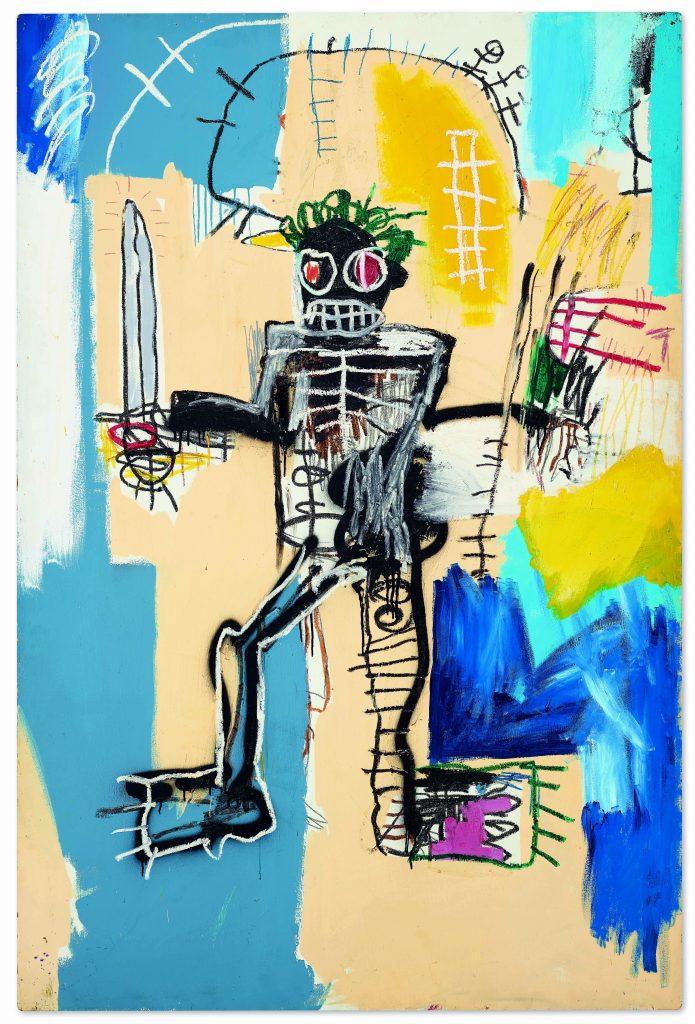 讓·米歇爾·巴斯奎特(Jean-Michel Basquiat),《勇士》(Warrior)(1982年)。 由佳士得影像有限公司提供。