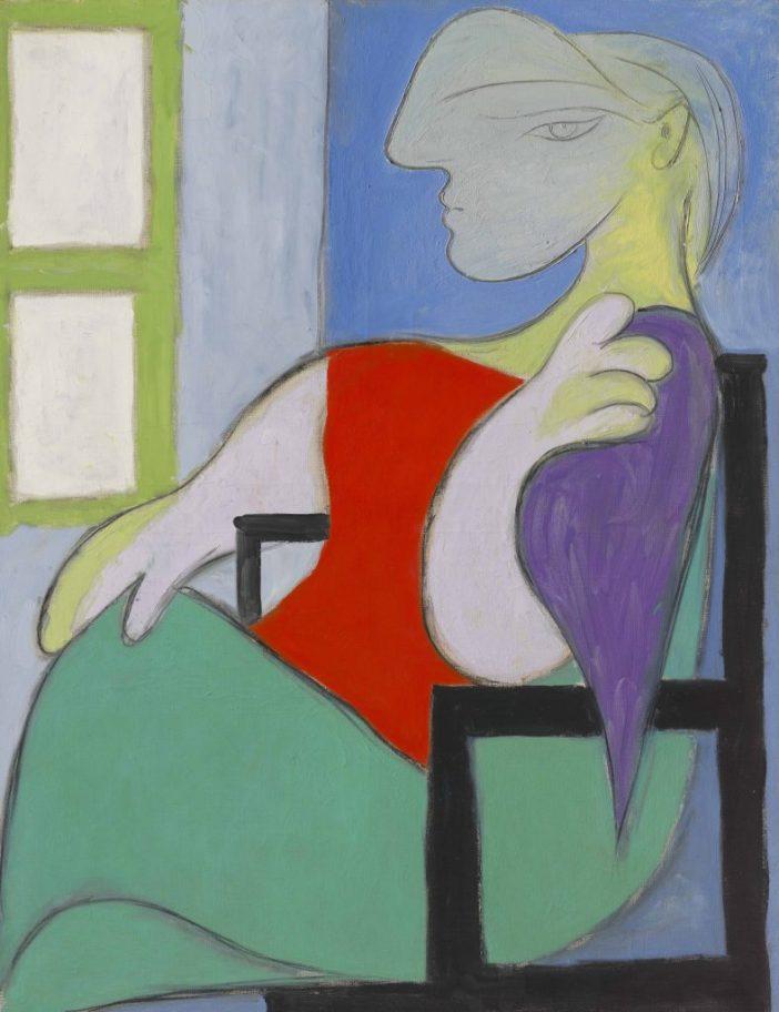 Pablo Picasso, Femme assise près d'une fenêtre (Marie-Thérèse) (1932). Courtesy of Christie's Images, Ltd.