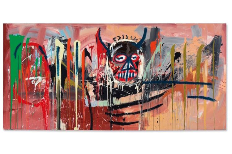 讓·米歇爾·巴斯奎特(Jean-Michel Basquiat),《無題》(1982年)。 由佳士得影像有限公司提供。