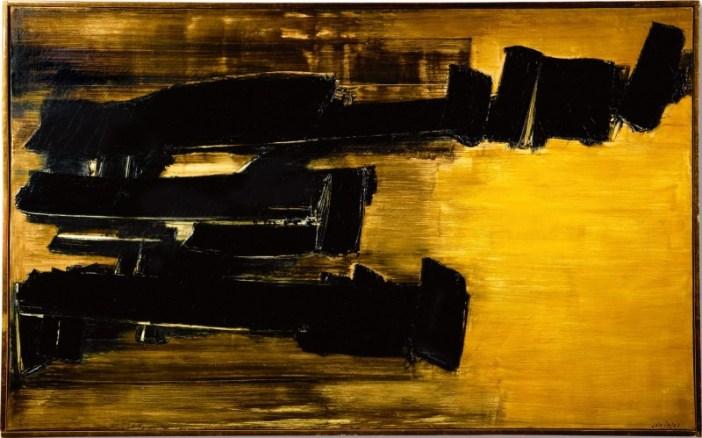 Pierre Soulages, Peinture 125 x 202 cm, 30 Octobre 1958 (1958). Courtesy of Sotheby's Hong Kong.