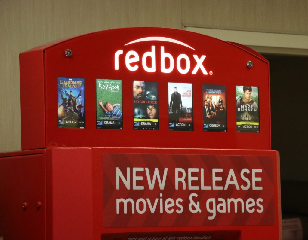 Redbox movie rentals in Simi Valley, California. (Image courtesy Getty Images.)